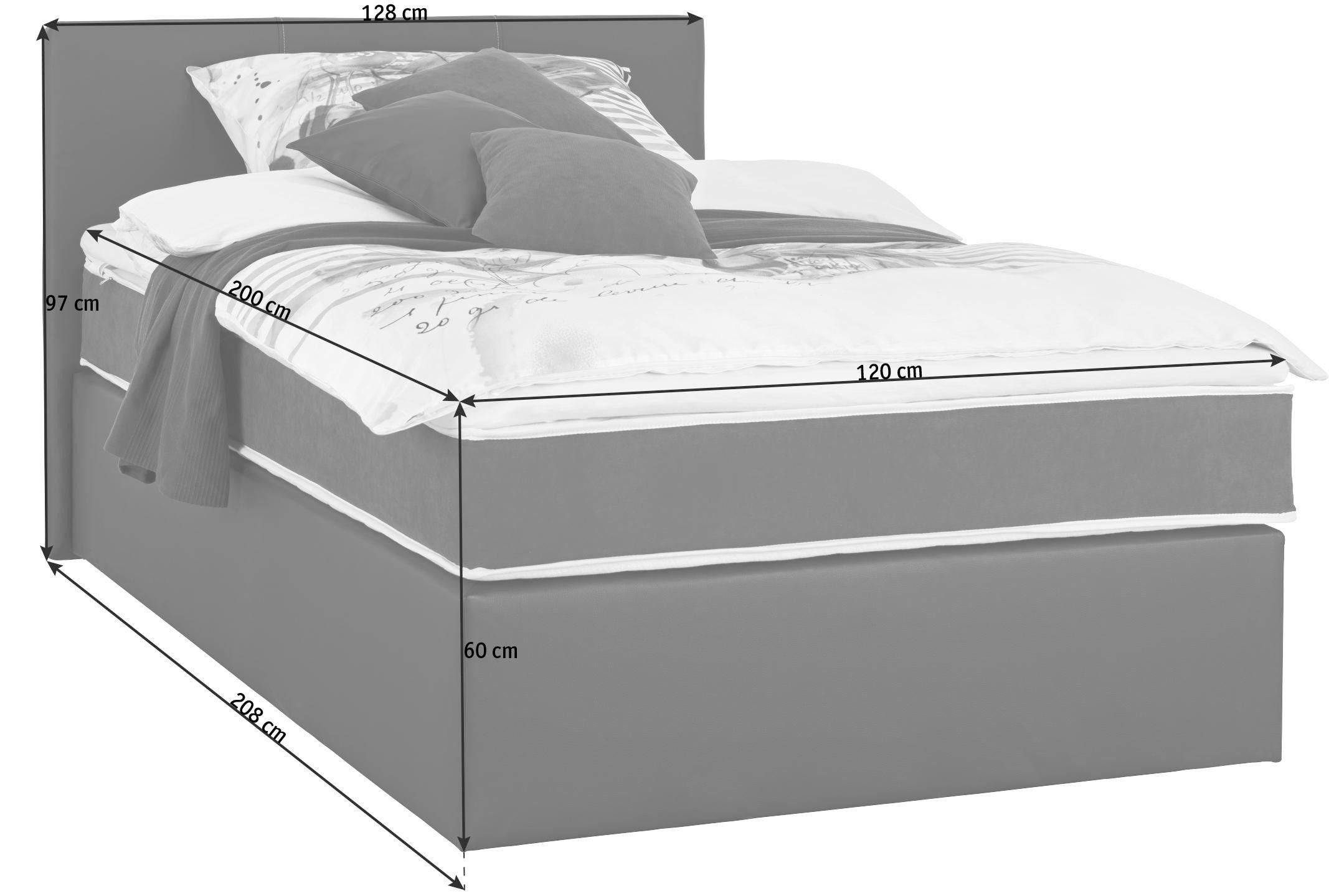 KONTINENTALSÄNG - svart, Design, textil (120/200cm) - Low Price