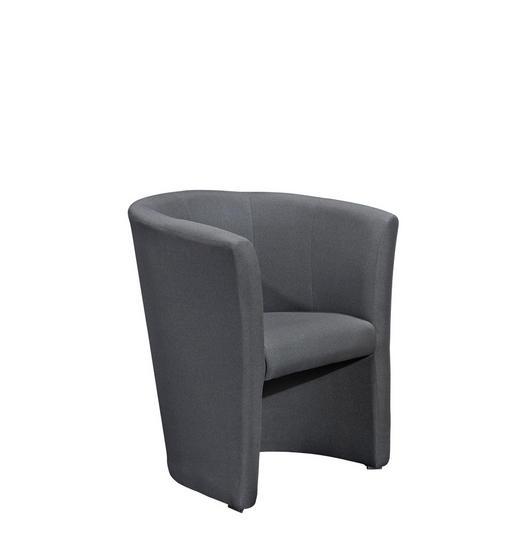 SESSEL Webstoff Grau - Schwarz/Grau, Design, Kunststoff/Textil (68/76/60cm) - CARRYHOME
