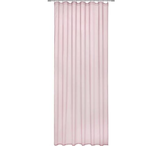 FERTIGVORHANG transparent - Altrosa, Design, Textil (135/255cm) - Novel