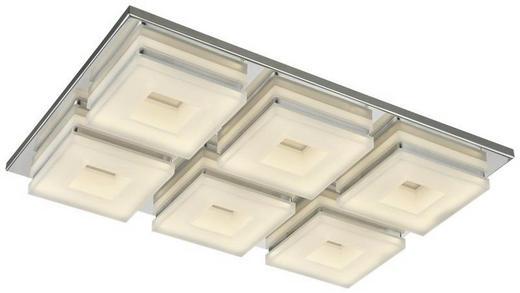 DECKENLEUCHTE - Chromfarben, Design, Kunststoff/Metall (43/31/10cm)