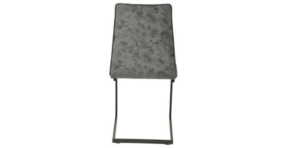 SCHWINGSTUHL in Metall, Textil Greige, Schwarz - Greige/Schwarz, Design, Textil/Metall (48/90/57cm) - Hom`in