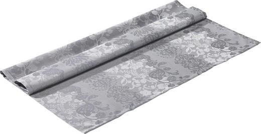 TISCHDECKE Textil Jacquard Graphitfarben 100/100 cm - Graphitfarben, Basics, Textil (100/100cm)
