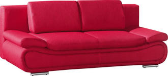 SCHLAFSOFA Rot - Chromfarben/Rot, Design, Textil/Metall (210/84/90cm) - Novel