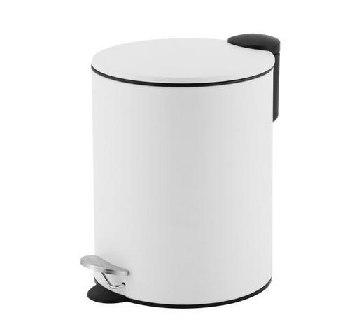 NÁŠLAPNÝ KOŠ, bílá - bílá, Basics, kov (20,5/27,5cm) - Homeware
