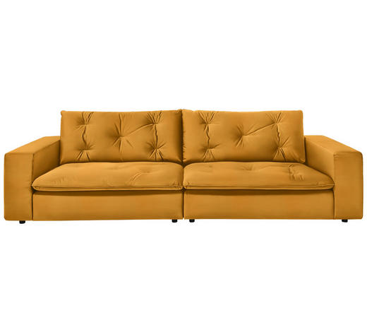 SOFA in Textil Gelb, Currygelb - Currygelb/Gelb, Design, Kunststoff/Textil (290/87/122cm) - Ambiente