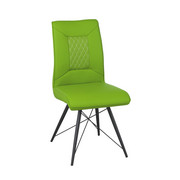 STOL, kovina, tekstil črna, zelena - črna/zelena, Design, kovina/tekstil (45/92/62cm) - Carryhome