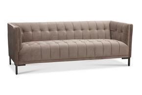 SOFFA - ljusgrå/svart, Lifestyle, metall/trä (203/76/90cm)