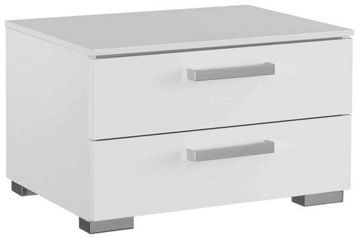 NACHTKÄSTCHEN Wasserlack Weiß - Alufarben/Weiß, Design, Kunststoff/Metall (55/34/42cm) - Carryhome
