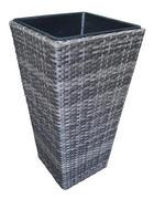 PFLANZENTOPF - Grau, Basics, Kunststoff/Metall (36/70/36cm) - Ambia Garden