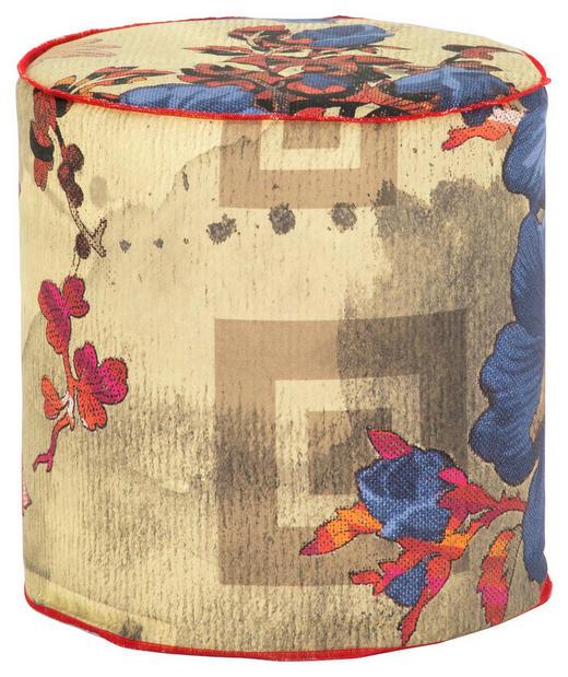 HOCKER in Textil Multicolor - Multicolor, Basics, Textil (40/45/40cm) - Dieter Knoll