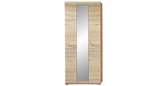 GARDEROBENSCHRANK 84/200/40 cm  - Chromfarben/Buchefarben, KONVENTIONELL, Holzwerkstoff/Metall (84/200/40cm) - Voleo
