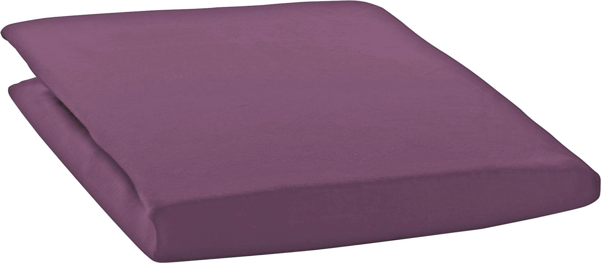 SPANNBETTTUCH Zwirn-Jersey Lila bügelfrei, für Wasserbetten geeignet - Lila, Basics, Textil (200/200cm) - ESTELLA