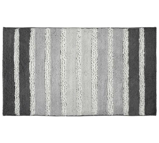 BADTEPPICH in Grau 70/120 cm - Grau, KONVENTIONELL, Kunststoff/Textil (70/120cm) - Kleine Wolke