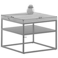 COUCHTISCH in Holz, Metall 50/50/40 cm - Eichefarben/Schwarz, Design, Holz/Metall (50/50/40cm) - Novel