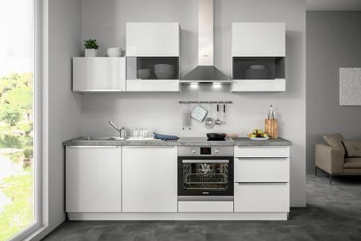 Küchenblock ohne E-Geräte 240,5 cm - Weiß, Design (240,5cm) - Set one by Musterrin