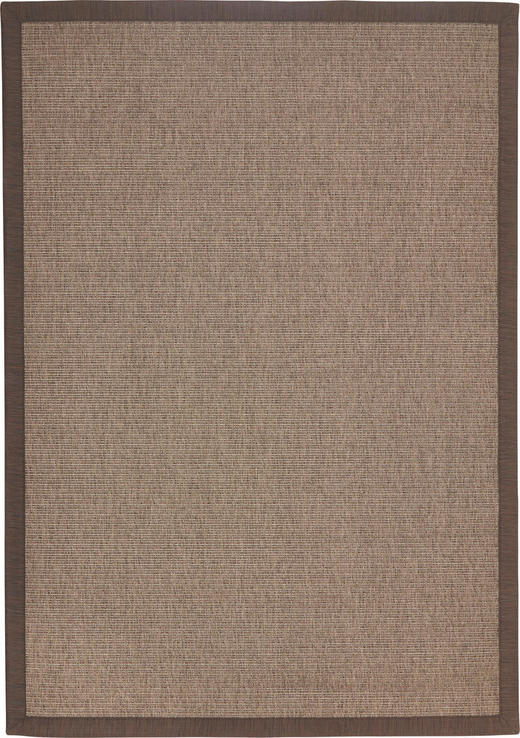 Flachwebeteppich - Braun, KONVENTIONELL, Textil (140/200cm) - Linea Natura