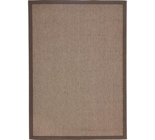 Flachwebeteppich - Braun, Konventionell, Textil (170/230cm) - Linea Natura