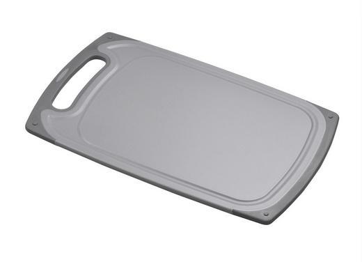 SCHNEIDEBRETT Kunststoff - Grau, Kunststoff (24/40cm) - Justinus