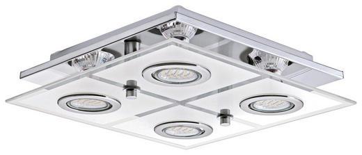 STROPNA LED SVETILKA CABO - krom, Konvencionalno, kovina/umetna masa (29/29/7cm) - NOVEL