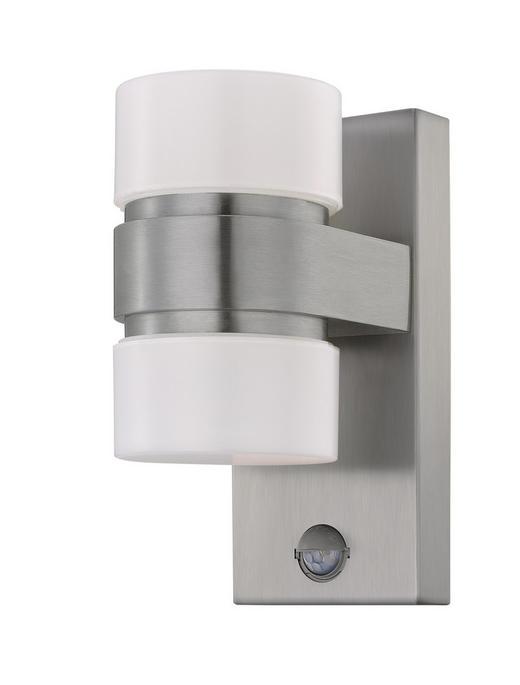 LED-AUßENLEUCHTE - Edelstahlfarben/Silberfarben, Design, Kunststoff/Metall (23/10/15,5cm)
