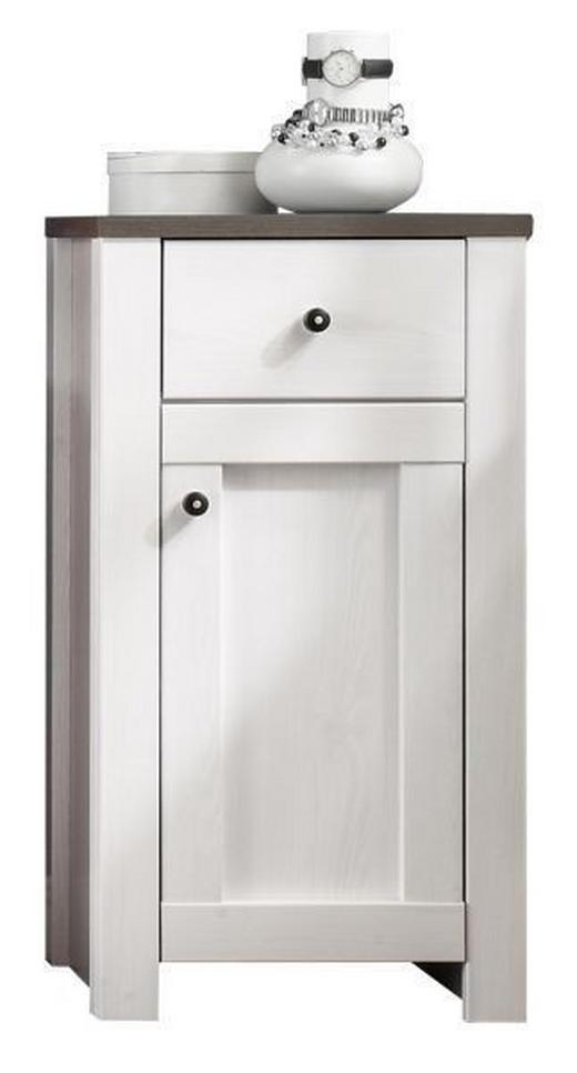 UNTERSCHRANK Braun, Weiß - Weiß/Braun, Design, Holzwerkstoff/Kunststoff (43/81/41cm) - Xora