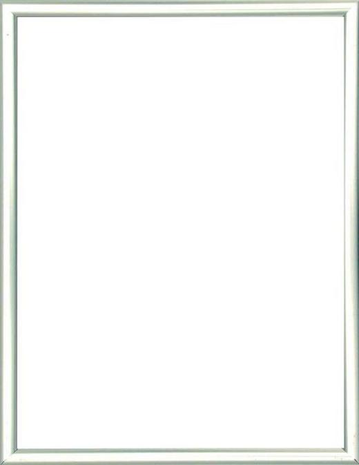 BILDERRAHMEN  Silberfarben - Silberfarben, Basics, Glas/Kunststoff (19/14/1.75cm)