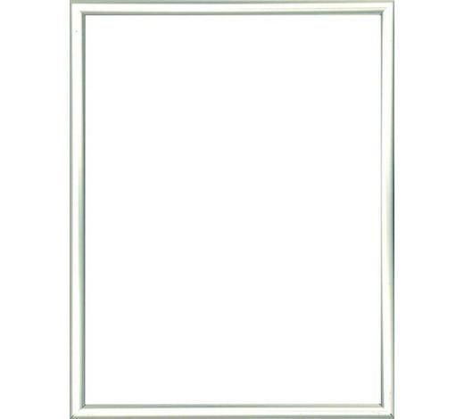 RÁM NA OBRAZY - barvy stříbra, Basics, umělá hmota/sklo (13/18cm)