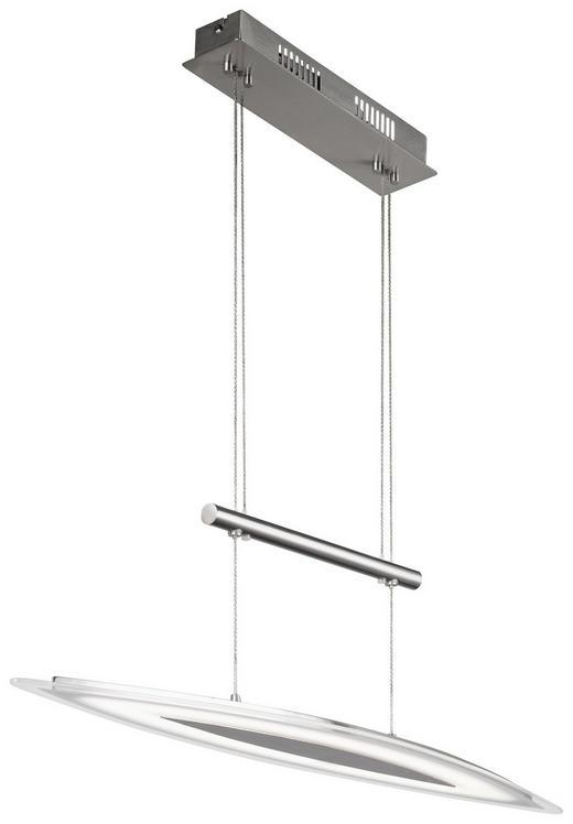 LED-HÄNGELEUCHTE - Nickelfarben, Design, Glas/Metall (80/150/15cm)