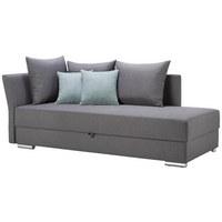 LIEGE in Anthrazit, Mintgrün Textil - Chromfarben/Anthrazit, Design, Kunststoff/Textil (220/93/100cm) - XORA