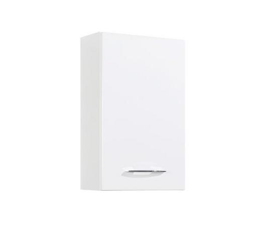 OBERSCHRANK Weiß  - Chromfarben/Weiß, KONVENTIONELL, Holzwerkstoff/Metall (40/64/20cm) - Xora