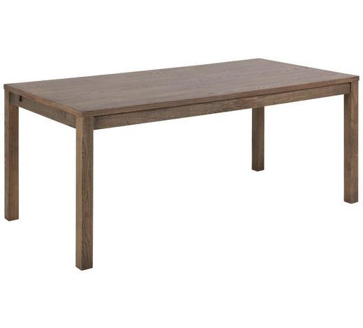 ESSTISCH Eiche furniert rechteckig Dunkelbraun  - Dunkelbraun, KONVENTIONELL, Holz (180/90/76,5cm) - Carryhome