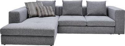 WOHNLANDSCHAFT in Grau Textil - Schwarz/Grau, Design, Kunststoff/Textil (194/304cm) - Dieter Knoll