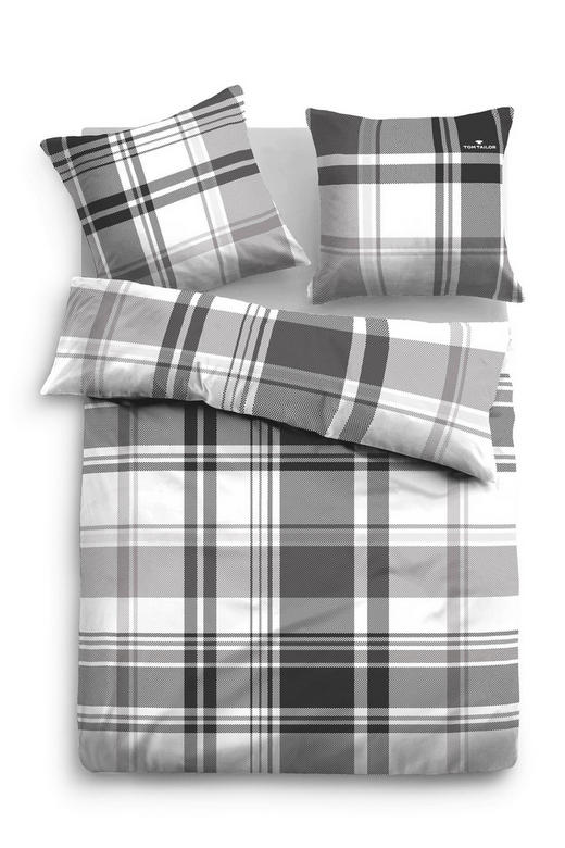 BETTWÄSCHE Satin Gelb, Grau, Grün, Hellgrau, Weiß 135/200 cm - Gelb/Hellgrau, Design, Textil (135/200cm) - TOM TAILOR