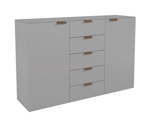 KOMMODE Grau - Nussbaumfarben/Grau, Basics (150/97,2/40,1cm) - Hülsta