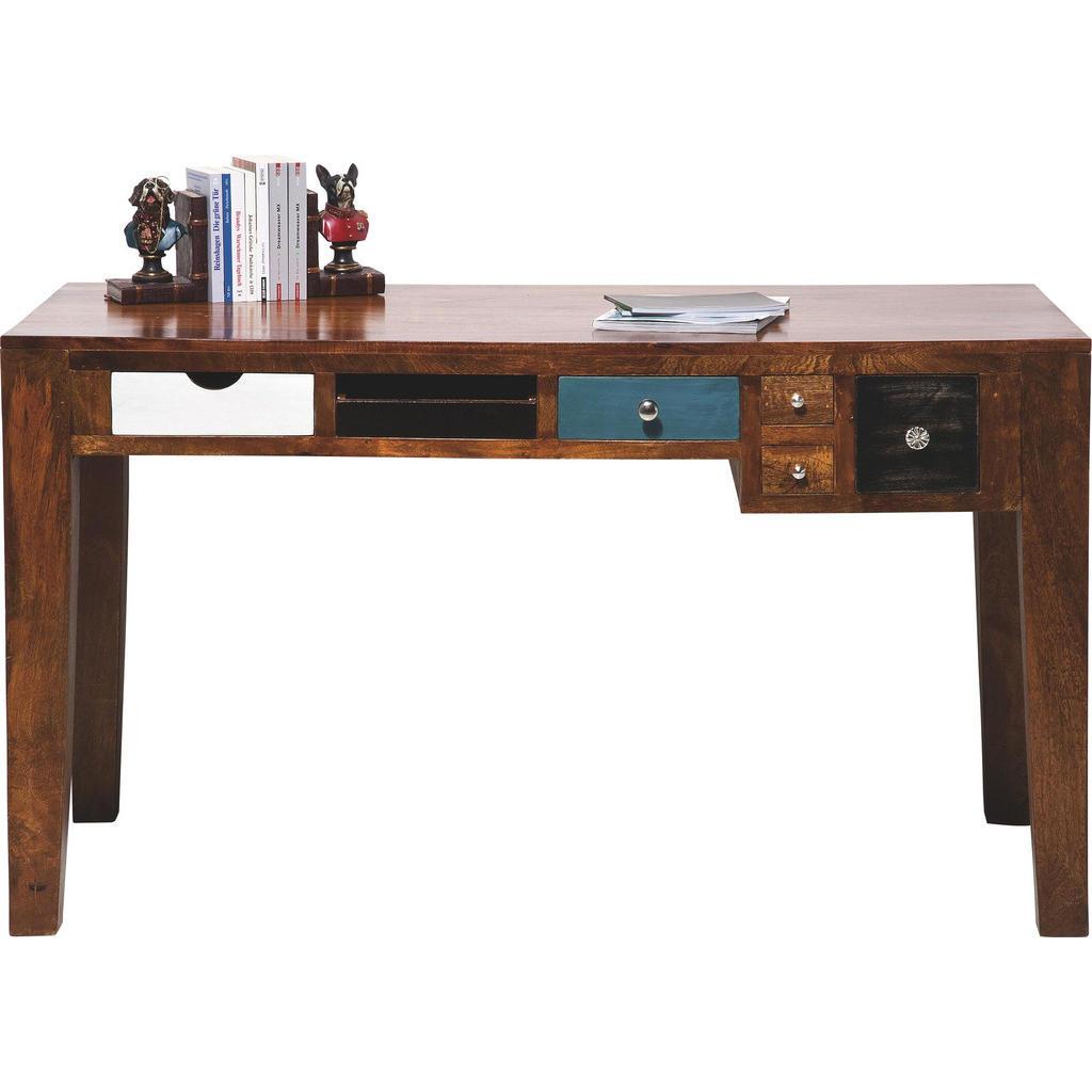 Kare Design Schreibtisch Pappel Massiv Braun