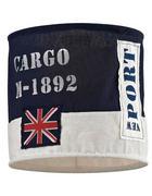 SJENILO SVJETILJKE - bijela/plava, Trend, tekstil (28/26cm)