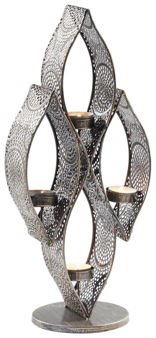 TEELICHTHALTER - Bronzefarben, Basics, Metall (17/41/13,5cm) - Ambia Home