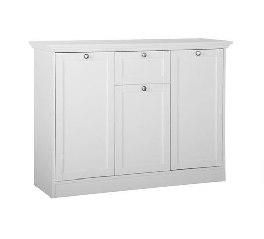 KOMMODE 120/90/40 cm - Silberfarben/Weiß, ROMANTIK / LANDHAUS, Holzwerkstoff/Metall (120/90/40cm) - Carryhome