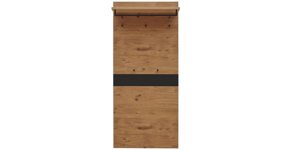 GARDEROBENPANEEL 80/183/27 cm  - Eichefarben/Schwarz, Design, Holz (80/183/27cm) - Dieter Knoll