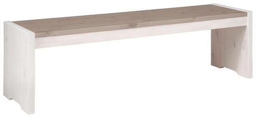 SITZBANK Kiefer massiv Grau, Weiß - Weiß/Grau, Design, Holz (160/48/40cm) - CARRYHOME