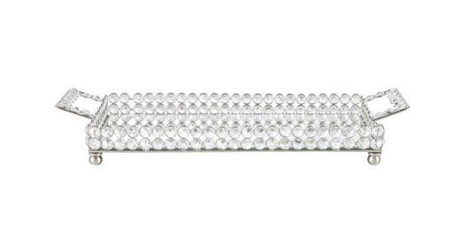 DEKOTABLETT - Silberfarben, Basics, Metall (16,5/38cm) - Ambia Home