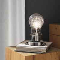 STOLNÍ LAMPA - barvy chromu, Trend, kov (12/23,5cm) - Novel
