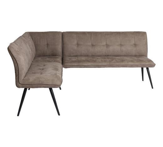 ECKBANK 170/210 cm  in Braun, Schwarz - Schwarz/Braun, Design, Textil/Metall (170/210cm) - Hom`in