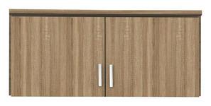 AUFSATZSCHRANK in Eichefarben  - Eichefarben/Silberfarben, Basics, Holzwerkstoff/Kunststoff (91/39/54cm) - Carryhome