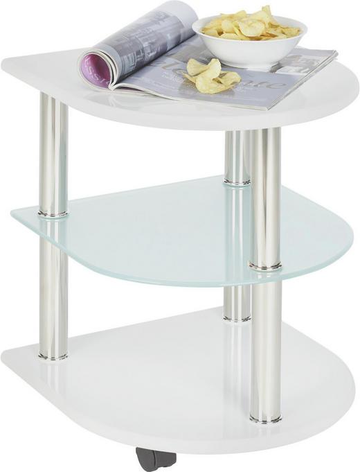 BEISTELLTISCH Weiß - Weiß, Design, Glas/Kunststoff (40/40/49cm) - Xora