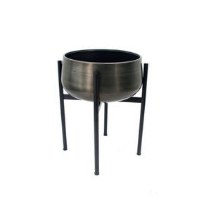 PLANTERINGSKRUKA - silver/grå, Design, metall (35/47cm) - Ambia Home