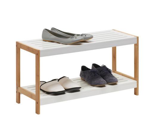 REGÁL NA BOTY, hnědá, bílá, bambus - bílá/hnědá, Design, dřevo/kompozitní dřevo (70/36/26cm) - Xora