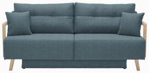 SCHLAFSOFA in Textil Hellblau - Naturfarben/Hellblau, KONVENTIONELL, Holz/Textil (200/92/95cm) - Venda