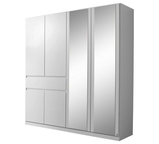 KLEIDERSCHRANK 6-türig Weiß  - Weiß, Design, Glas/Holzwerkstoff (181/197/54cm) - Carryhome