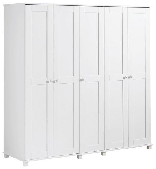 KLEIDERSCHRANK 192,5/190/60 cm - Weiß, Basics, Holz/Holzwerkstoff (192,5/190/60cm) - Hom`in